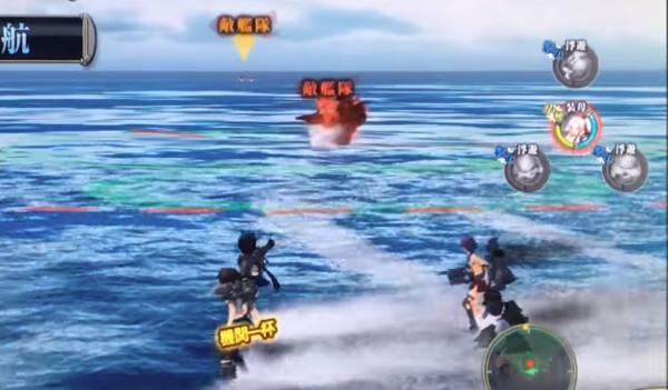複数の敵艦隊との砲撃戦